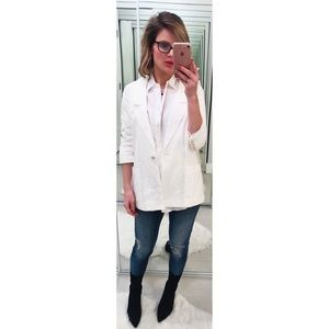 Elizabeth and James White James Linen Blazer
